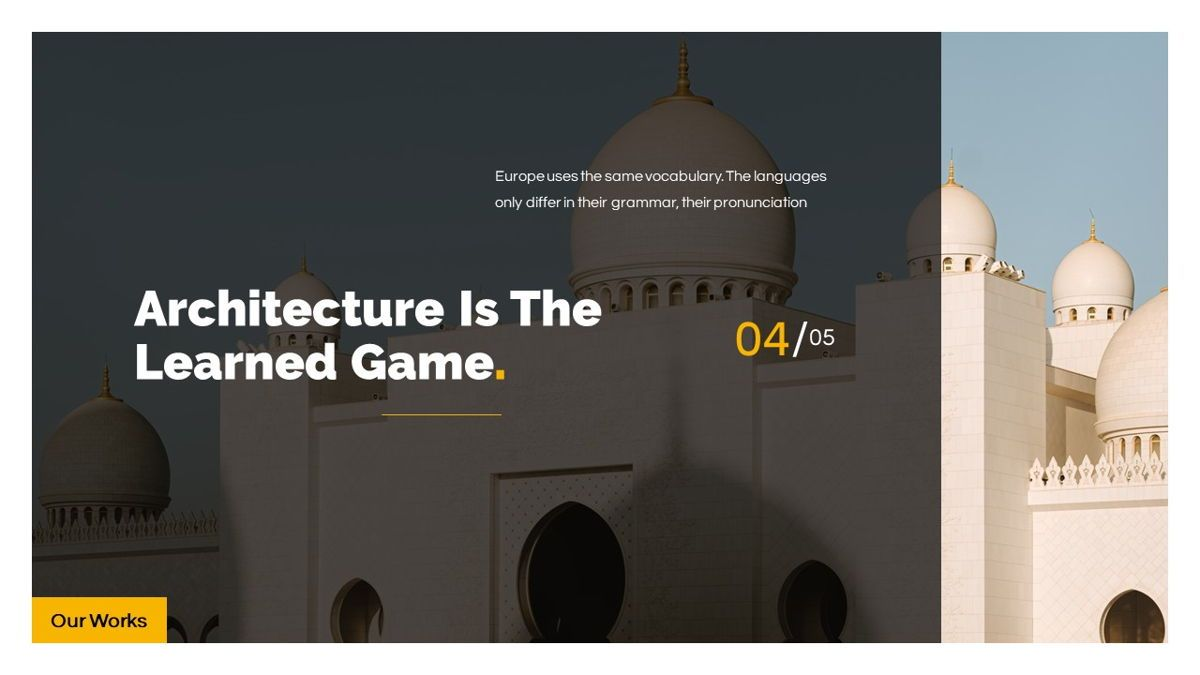 Arkae - Architecture Powerpoint Template, Slide 18, 06093, Data Driven Diagrams and Charts — PoweredTemplate.com