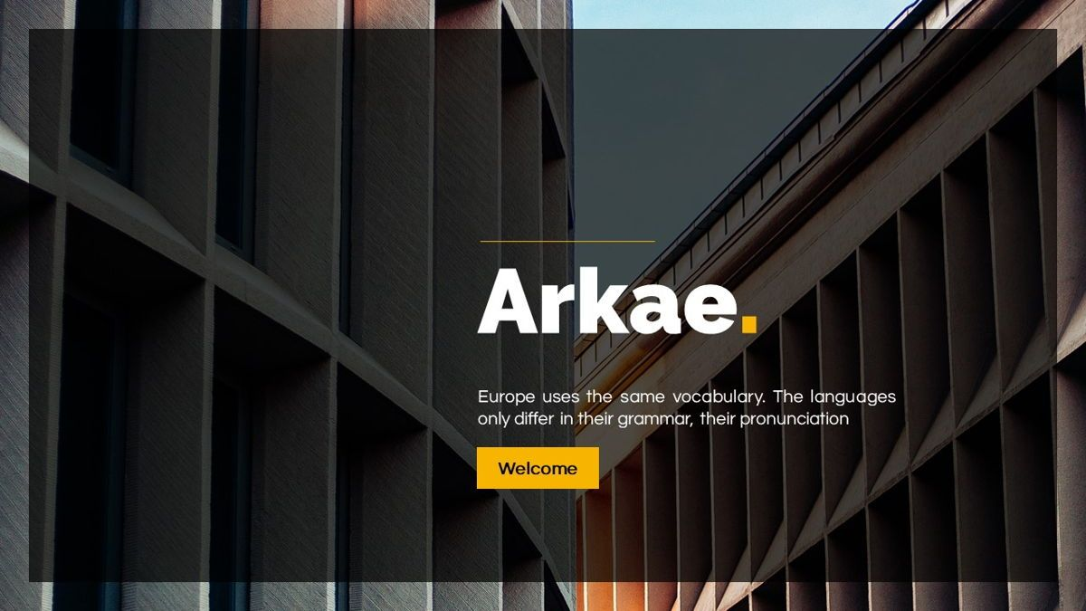 Arkae - Architecture Powerpoint Template, Slide 2, 06093, Data Driven Diagrams and Charts — PoweredTemplate.com