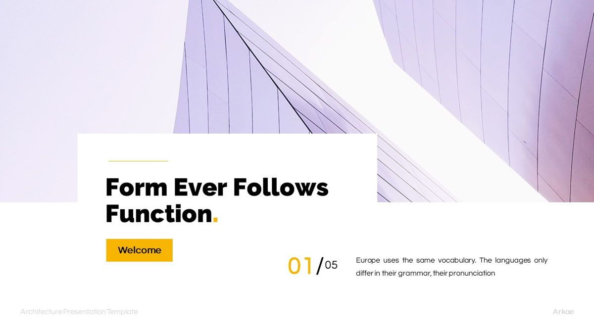 Arkae - Architecture Powerpoint Template, Slide 3, 06093, Data Driven Diagrams and Charts — PoweredTemplate.com