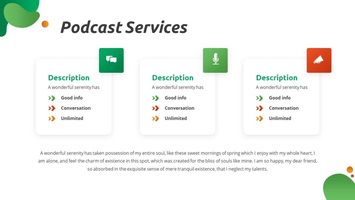 Convo - Podcast Powerpoint Template, Slide 10, 06094, Data Driven Diagrams and Charts — PoweredTemplate.com