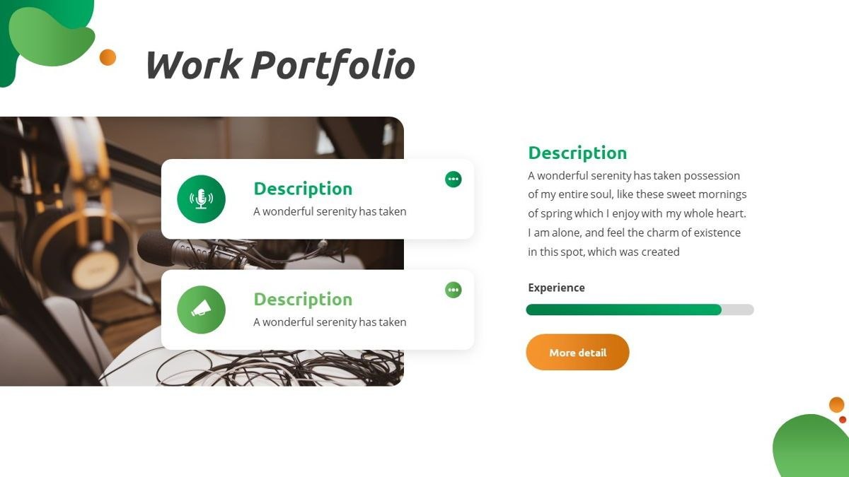 Convo - Podcast Powerpoint Template, Slide 19, 06094, Data Driven Diagrams and Charts — PoweredTemplate.com