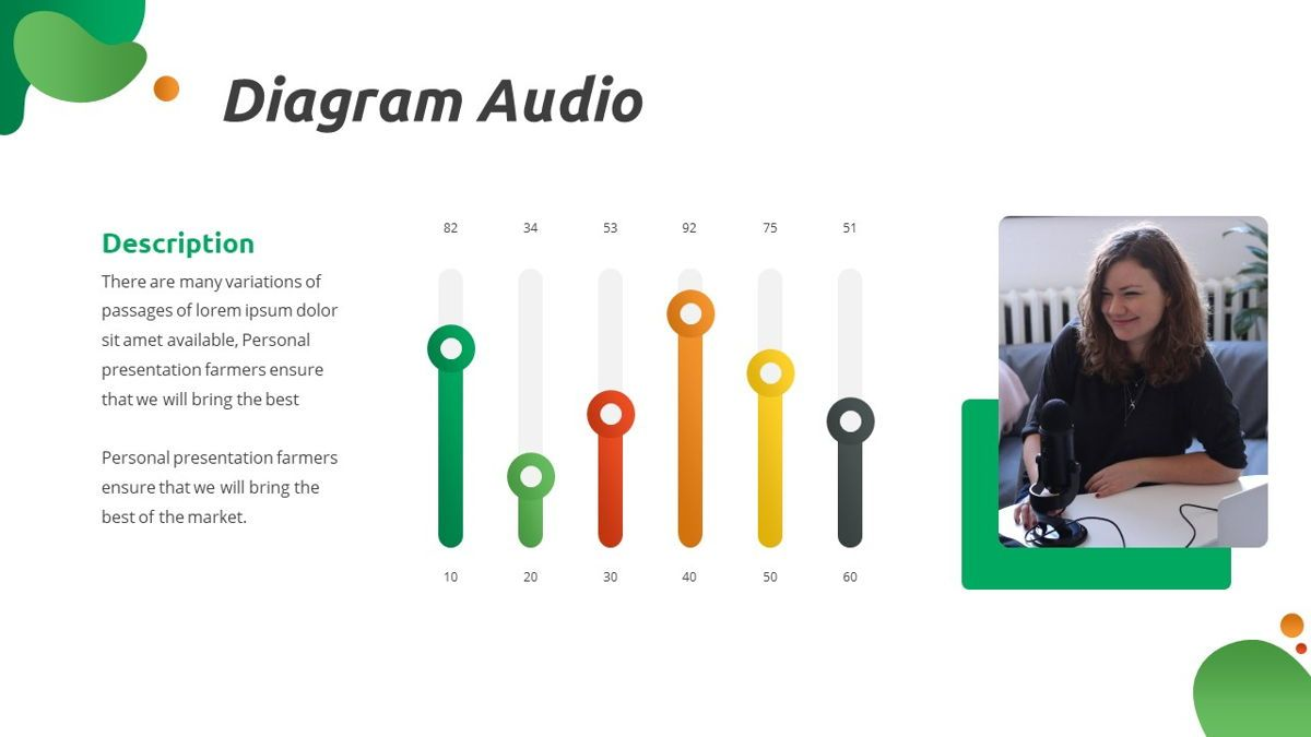 Convo - Podcast Powerpoint Template, Slide 24, 06094, Data Driven Diagrams and Charts — PoweredTemplate.com