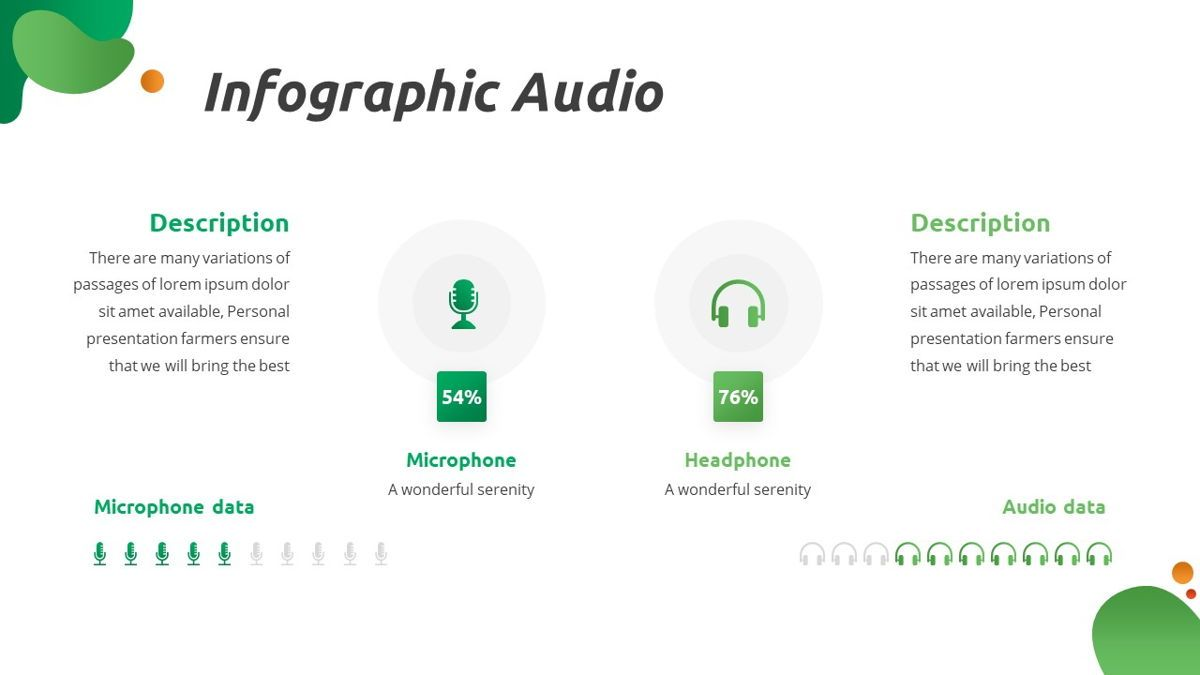 Convo - Podcast Powerpoint Template, Slide 25, 06094, Data Driven Diagrams and Charts — PoweredTemplate.com