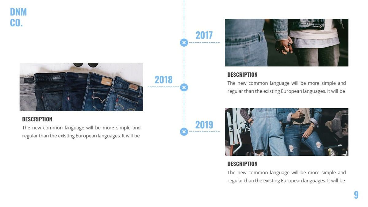Denim - Fashion Powerpoint Template, Slide 10, 06095, Data Driven Diagrams and Charts — PoweredTemplate.com
