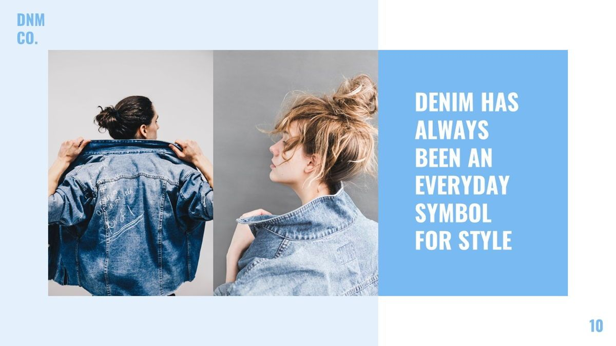 Denim - Fashion Powerpoint Template, Slide 11, 06095, Data Driven Diagrams and Charts — PoweredTemplate.com