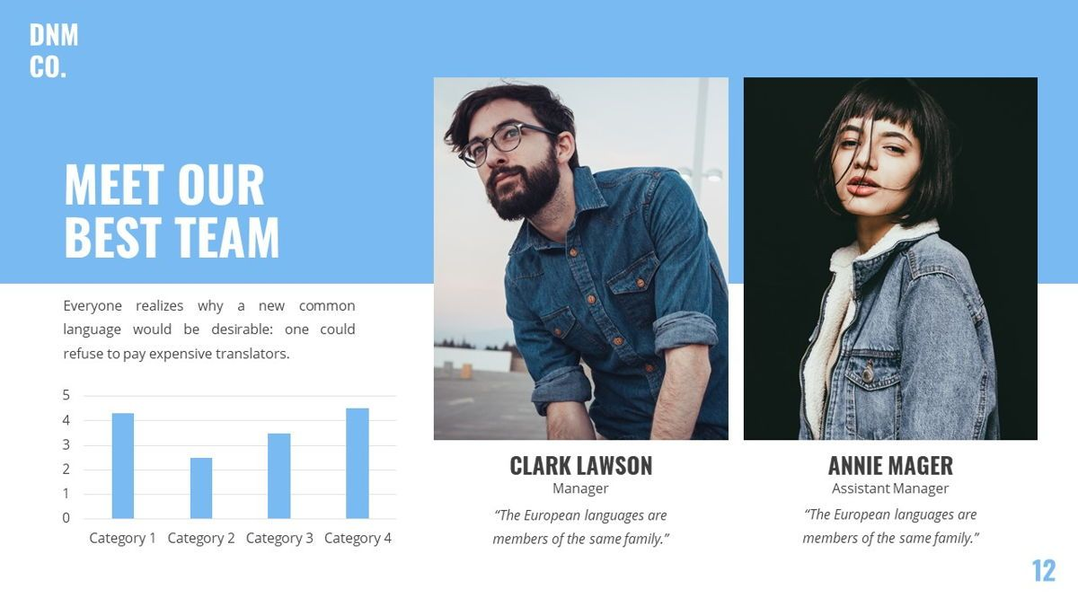 Denim - Fashion Powerpoint Template, Slide 13, 06095, Data Driven Diagrams and Charts — PoweredTemplate.com
