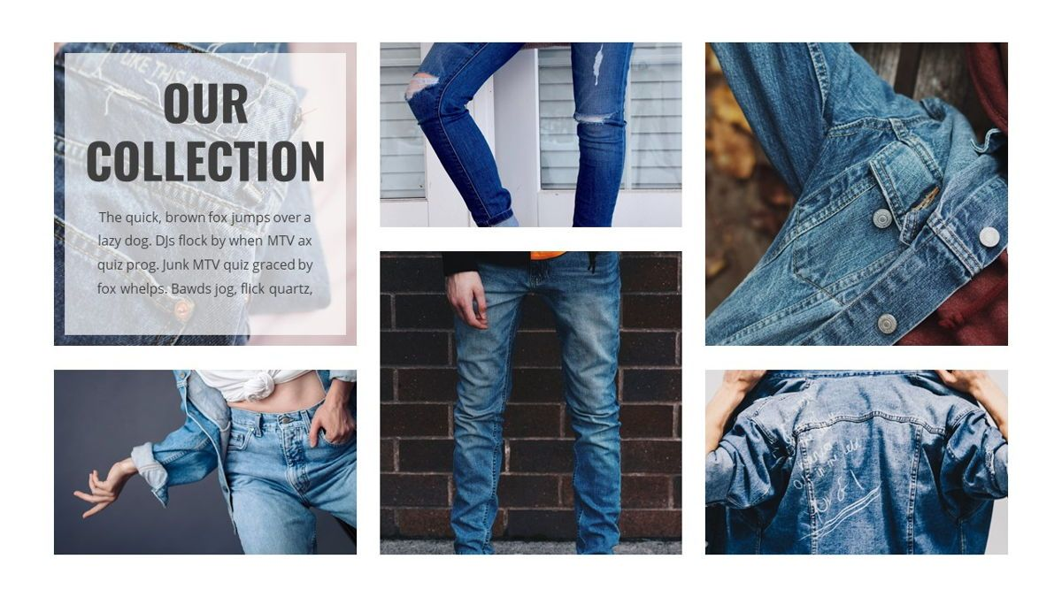 Denim - Fashion Powerpoint Template, Slide 15, 06095, Data Driven Diagrams and Charts — PoweredTemplate.com
