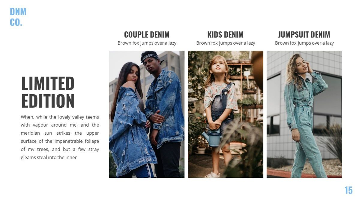 Denim - Fashion Powerpoint Template, Slide 16, 06095, Data Driven Diagrams and Charts — PoweredTemplate.com