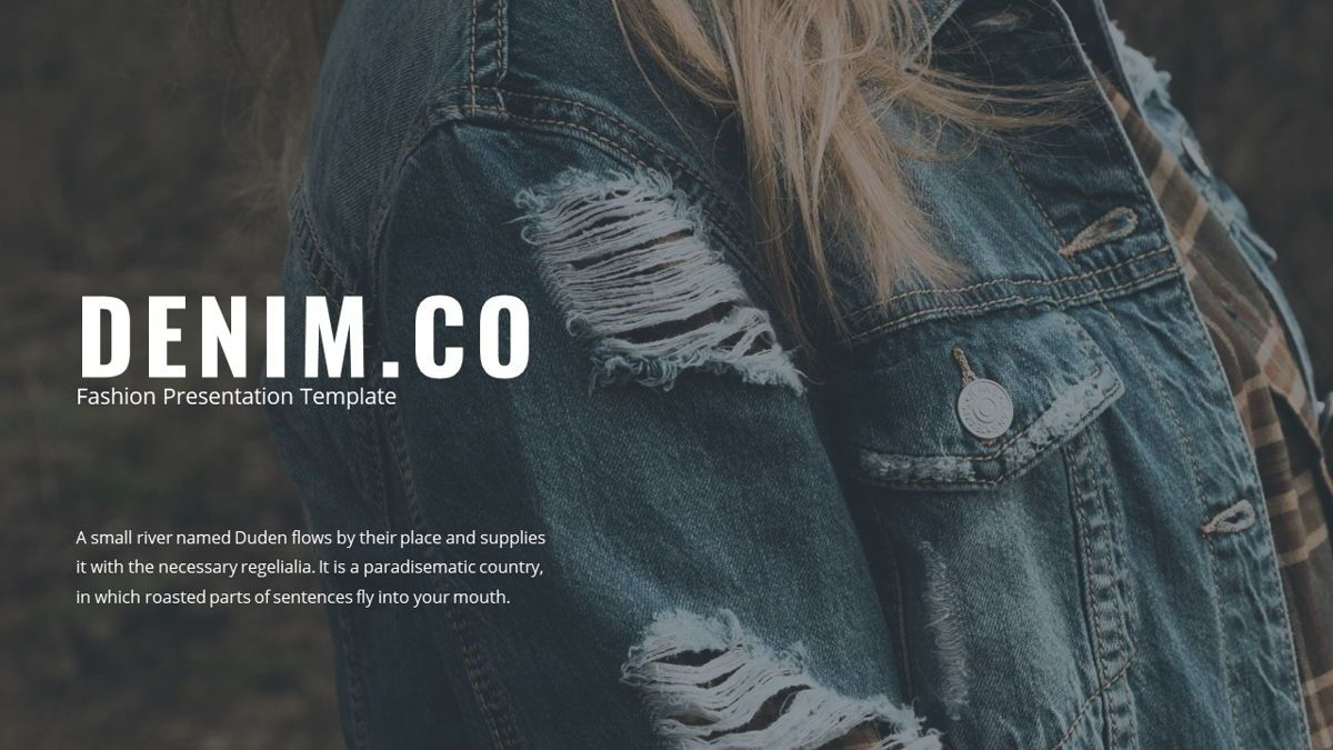 Denim - Fashion Powerpoint Template, Slide 2, 06095, Data Driven Diagrams and Charts — PoweredTemplate.com