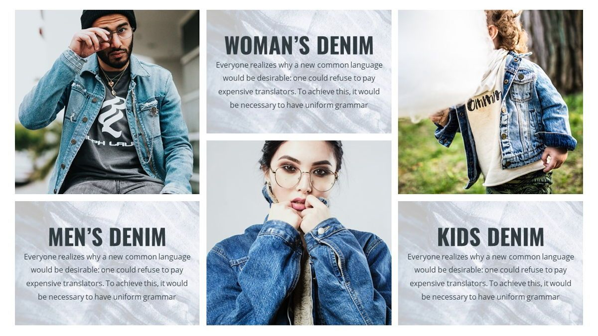 Denim - Fashion Powerpoint Template, Slide 21, 06095, Data Driven Diagrams and Charts — PoweredTemplate.com