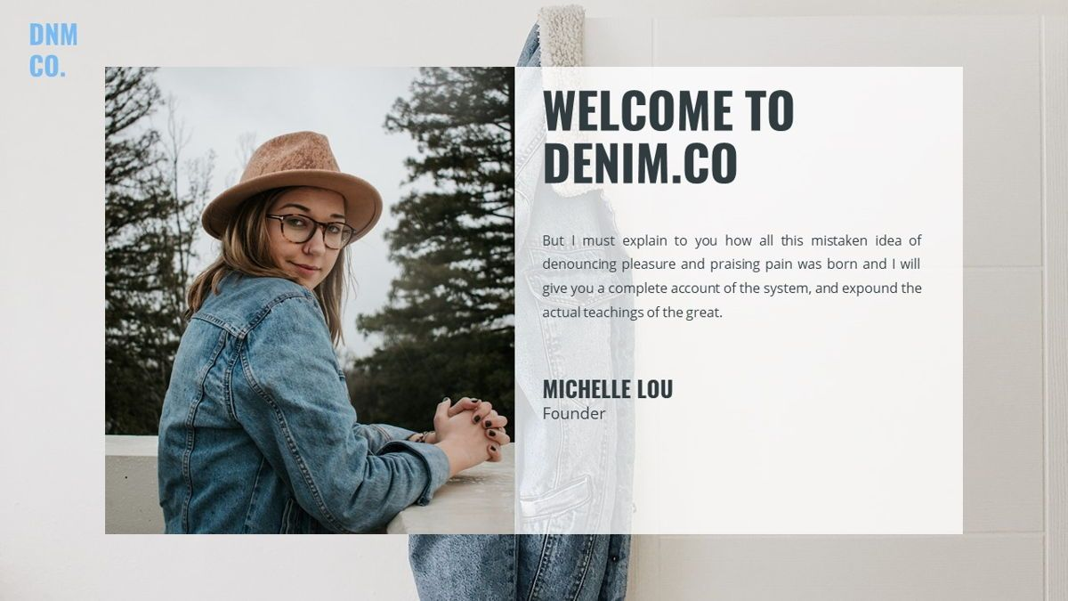 Denim - Fashion Powerpoint Template, Slide 3, 06095, Data Driven Diagrams and Charts — PoweredTemplate.com