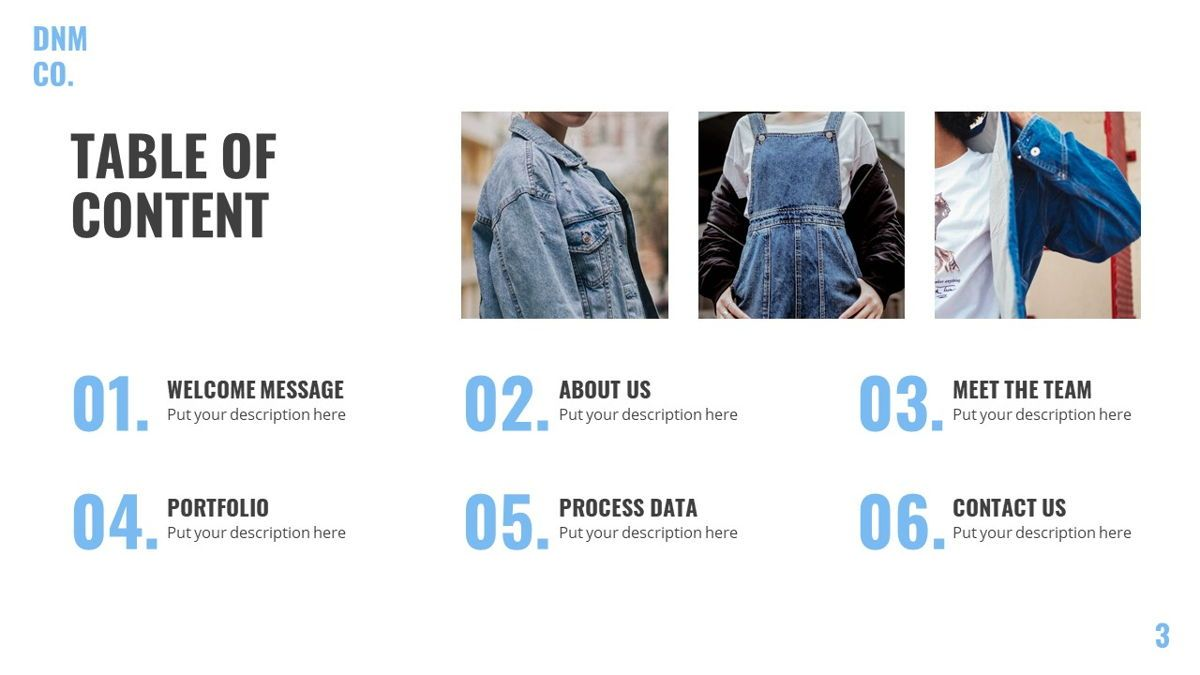 Denim - Fashion Powerpoint Template, Slide 4, 06095, Data Driven Diagrams and Charts — PoweredTemplate.com