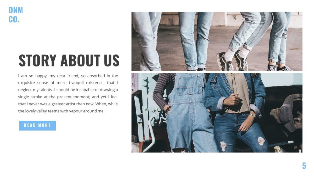 Denim - Fashion Powerpoint Template, Slide 6, 06095, Data Driven Diagrams and Charts — PoweredTemplate.com