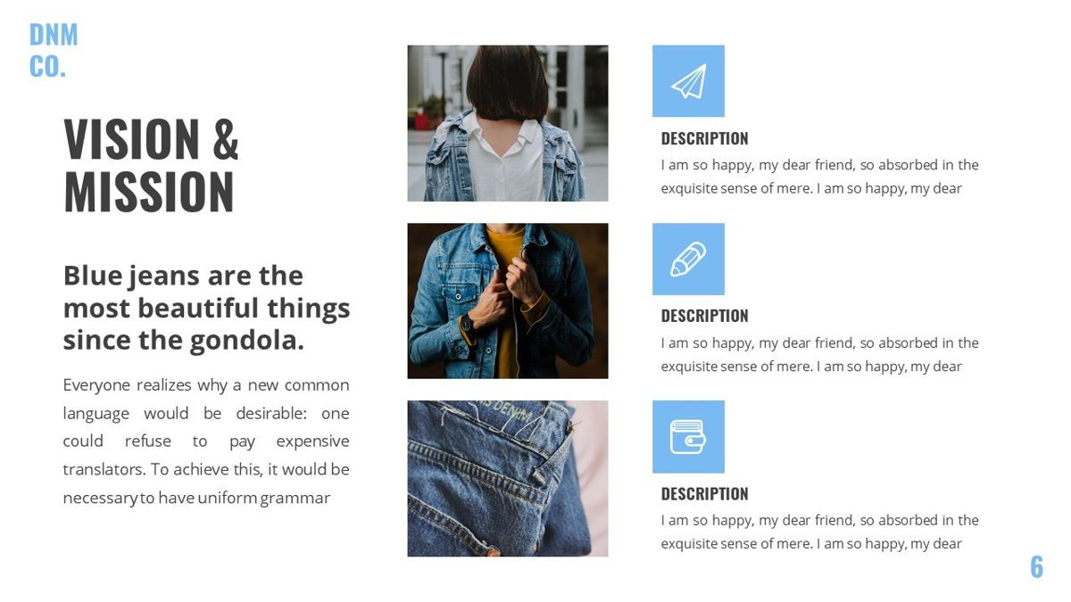 Denim - Fashion Powerpoint Template, Slide 7, 06095, Data Driven Diagrams and Charts — PoweredTemplate.com