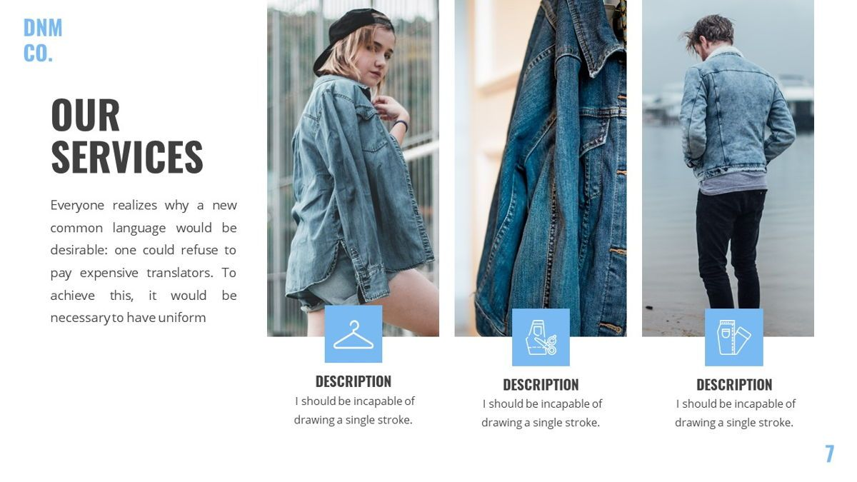 Denim - Fashion Powerpoint Template, Slide 8, 06095, Data Driven Diagrams and Charts — PoweredTemplate.com
