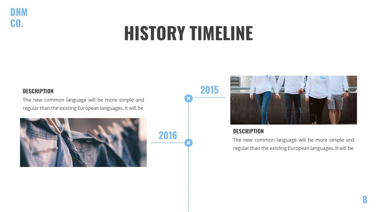 Denim - Fashion Powerpoint Template, Slide 9, 06095, Data Driven Diagrams and Charts — PoweredTemplate.com