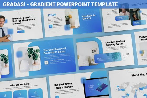 Data Driven Diagrams and Charts: Gradasi - Gradient Powerpoint Template #06096