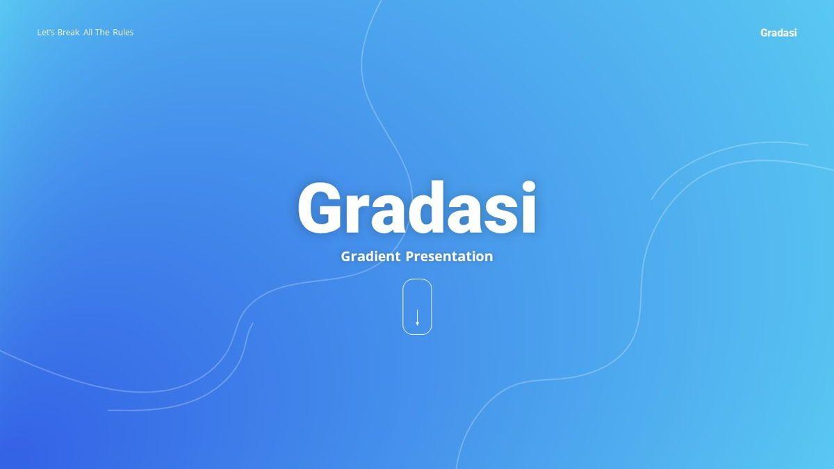Gradasi - Gradient Powerpoint Template, Slide 2, 06096, Data Driven Diagrams and Charts — PoweredTemplate.com