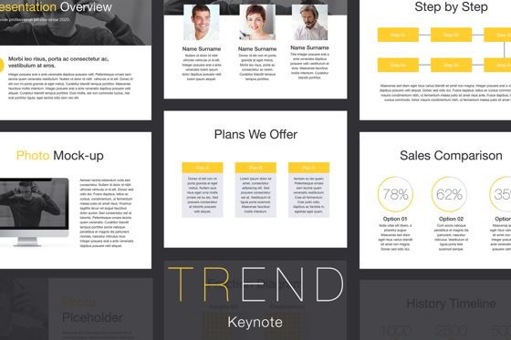 Presentation Templates: Trend Keynote Template #06097