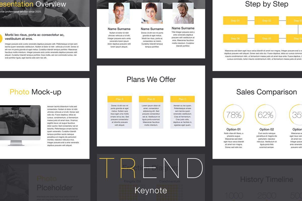 Trend Keynote Template, 06097, Presentation Templates — PoweredTemplate.com