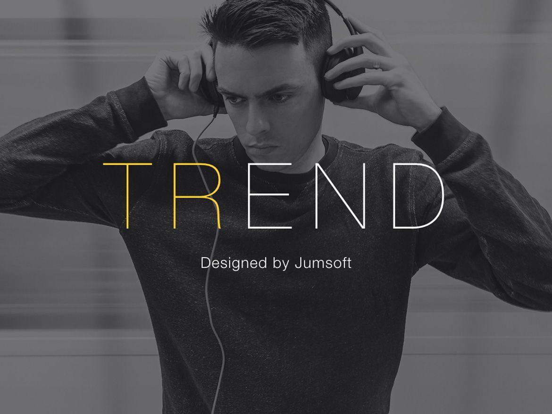 Trend Keynote Template, Slide 2, 06097, Presentation Templates — PoweredTemplate.com