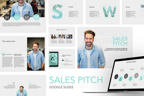 Presentation Templates: Sales Pitch Google Slides Template #06098