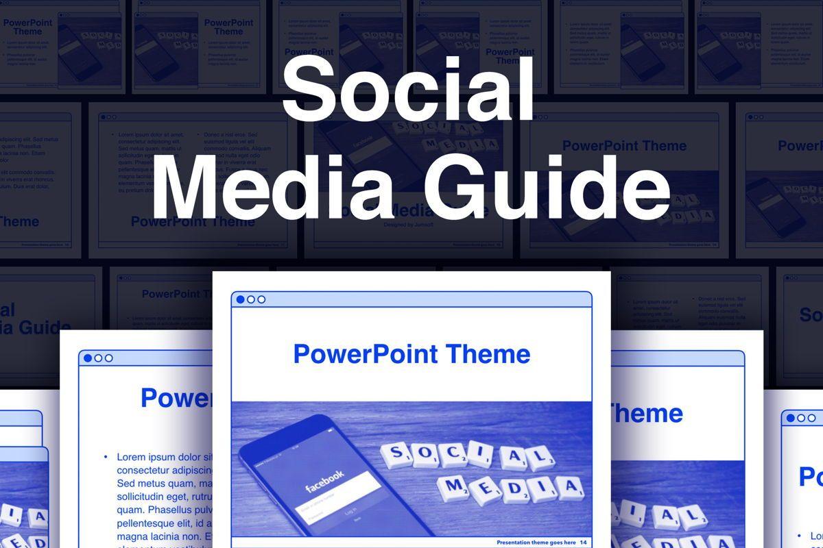 Social Media Guide PowerPoint Template, 06100, Presentation Templates — PoweredTemplate.com