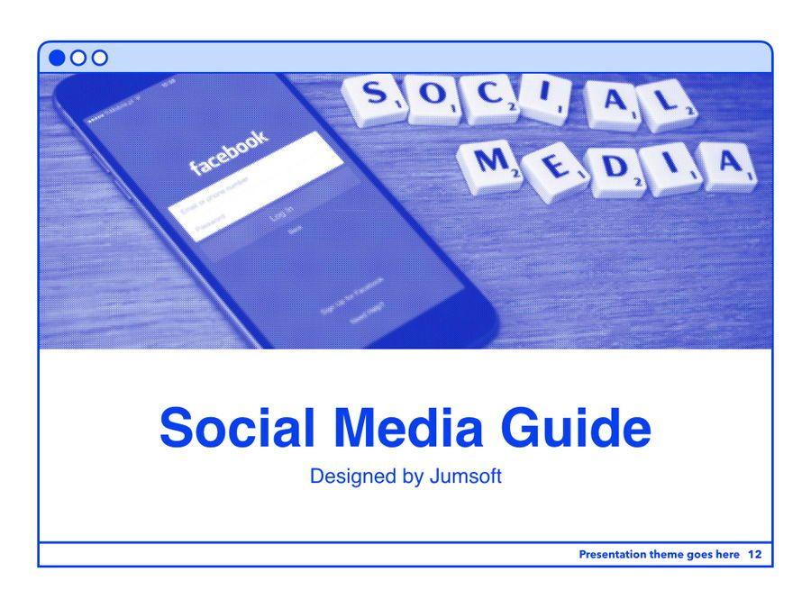 Social Media Guide PowerPoint Template, Slide 13, 06100, Presentation Templates — PoweredTemplate.com
