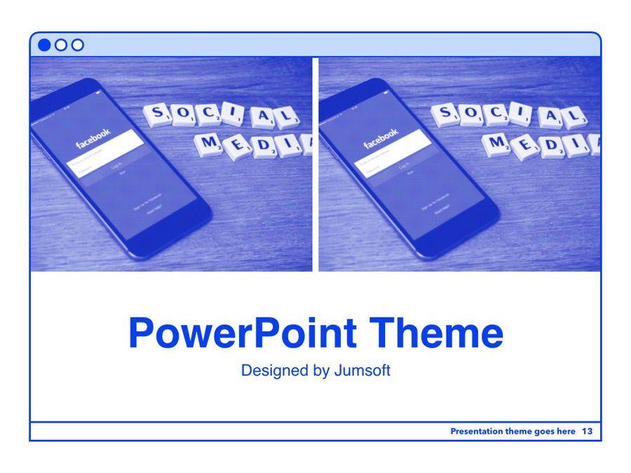 Social Media Guide PowerPoint Template, Slide 14, 06100, Presentation Templates — PoweredTemplate.com