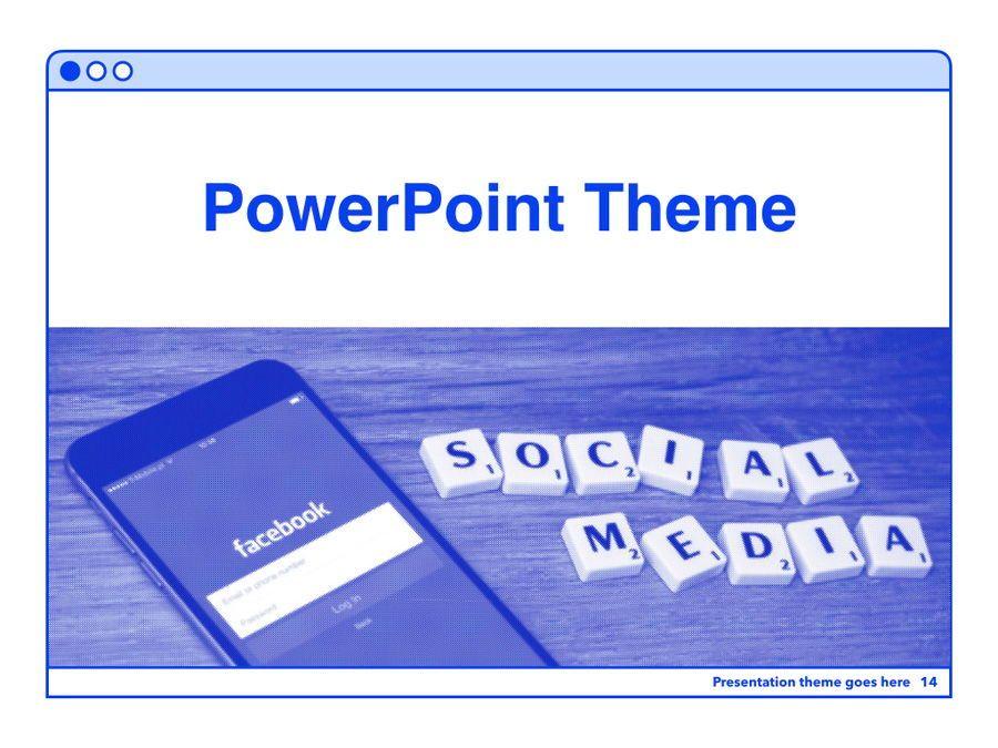 Social Media Guide PowerPoint Template, Slide 15, 06100, Presentation Templates — PoweredTemplate.com