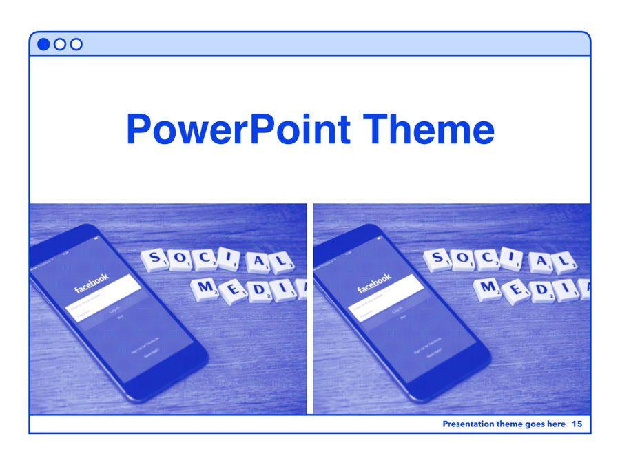 Social Media Guide PowerPoint Template, Slide 16, 06100, Presentation Templates — PoweredTemplate.com