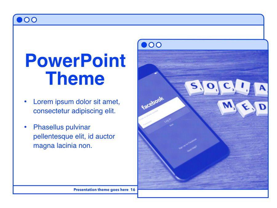 Social Media Guide PowerPoint Template, Slide 17, 06100, Presentation Templates — PoweredTemplate.com