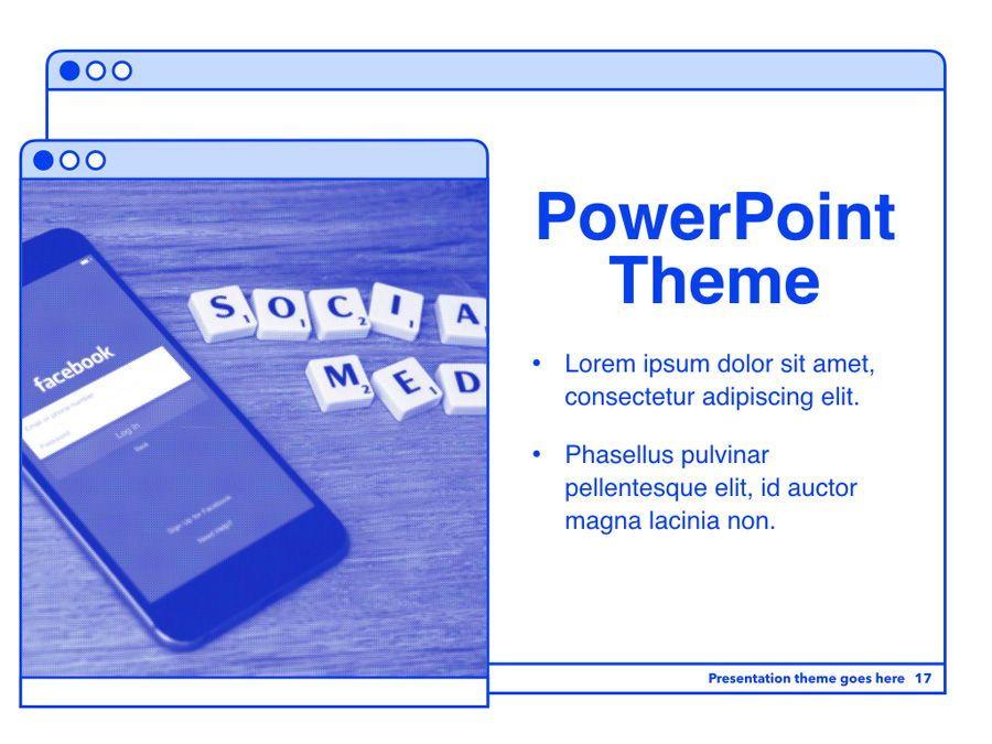 Social Media Guide PowerPoint Template, Slide 18, 06100, Presentation Templates — PoweredTemplate.com