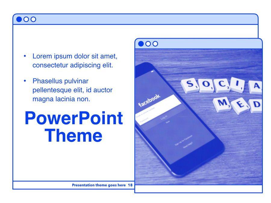 Social Media Guide PowerPoint Template, Slide 19, 06100, Presentation Templates — PoweredTemplate.com