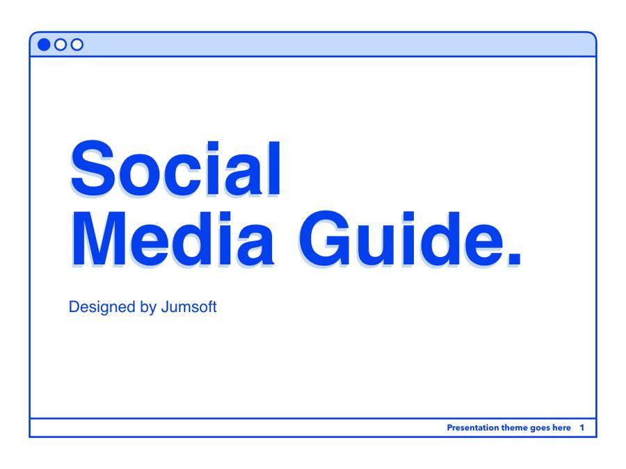 Social Media Guide PowerPoint Template, Slide 2, 06100, Presentation Templates — PoweredTemplate.com
