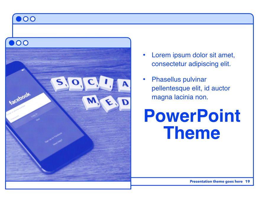 Social Media Guide PowerPoint Template, Slide 20, 06100, Presentation Templates — PoweredTemplate.com