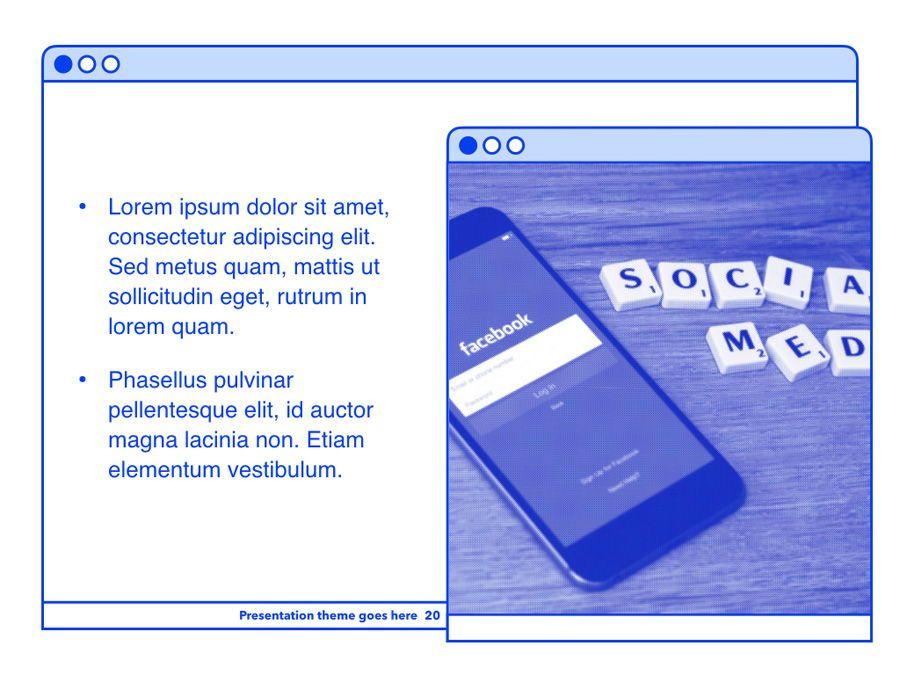 Social Media Guide PowerPoint Template, Slide 21, 06100, Presentation Templates — PoweredTemplate.com