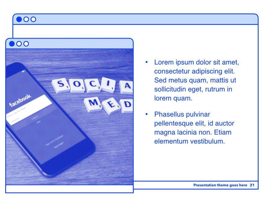 Social Media Guide PowerPoint Template, Slide 22, 06100, Presentation Templates — PoweredTemplate.com