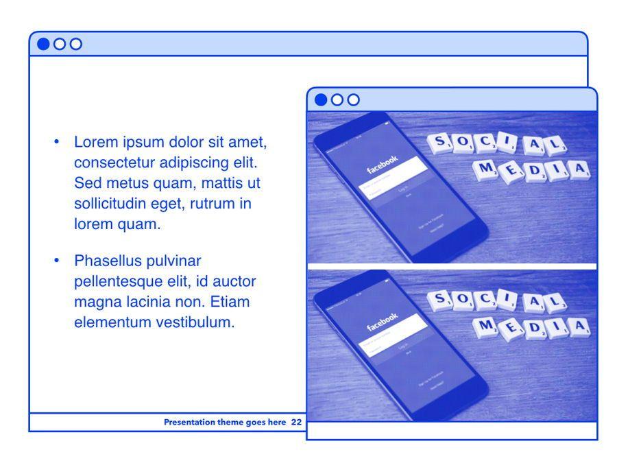 Social Media Guide PowerPoint Template, Slide 23, 06100, Presentation Templates — PoweredTemplate.com