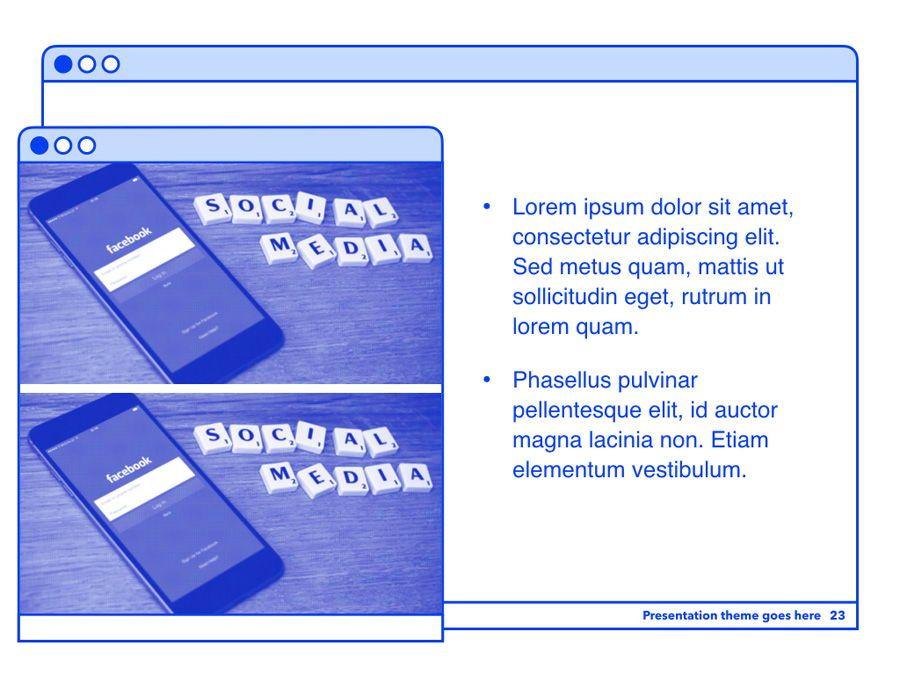 Social Media Guide PowerPoint Template, Slide 24, 06100, Presentation Templates — PoweredTemplate.com