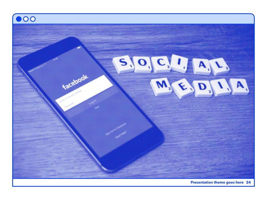 Social Media Guide PowerPoint Template, Slide 25, 06100, Presentation Templates — PoweredTemplate.com