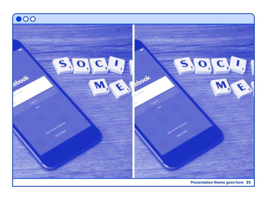 Social Media Guide PowerPoint Template, Slide 26, 06100, Presentation Templates — PoweredTemplate.com