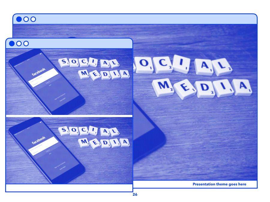 Social Media Guide PowerPoint Template, Slide 27, 06100, Presentation Templates — PoweredTemplate.com