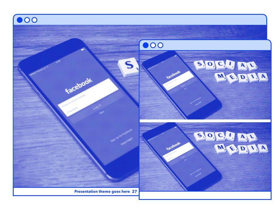 Social Media Guide PowerPoint Template, Slide 28, 06100, Presentation Templates — PoweredTemplate.com