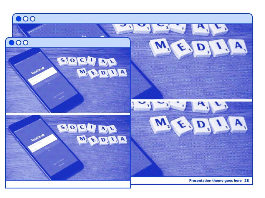 Social Media Guide PowerPoint Template, Slide 29, 06100, Presentation Templates — PoweredTemplate.com