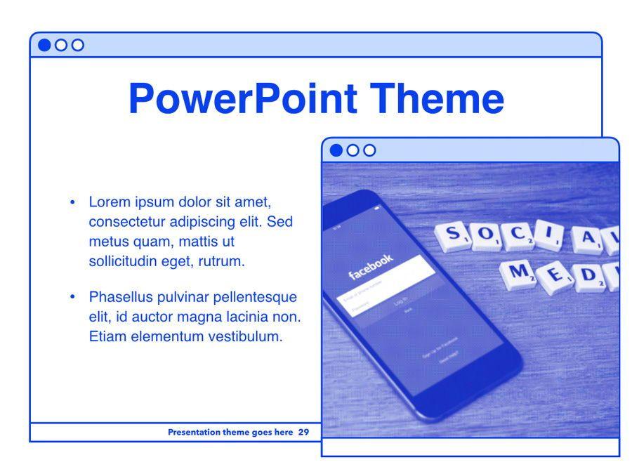 Social Media Guide PowerPoint Template, Slide 30, 06100, Presentation Templates — PoweredTemplate.com