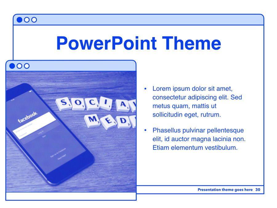 Social Media Guide PowerPoint Template, Slide 31, 06100, Presentation Templates — PoweredTemplate.com