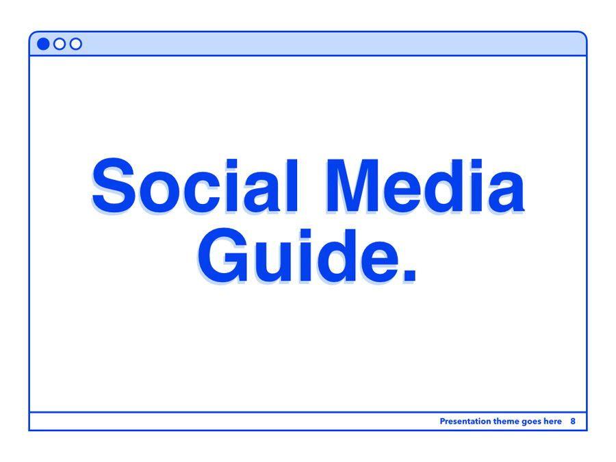 Social Media Guide PowerPoint Template, Slide 9, 06100, Presentation Templates — PoweredTemplate.com