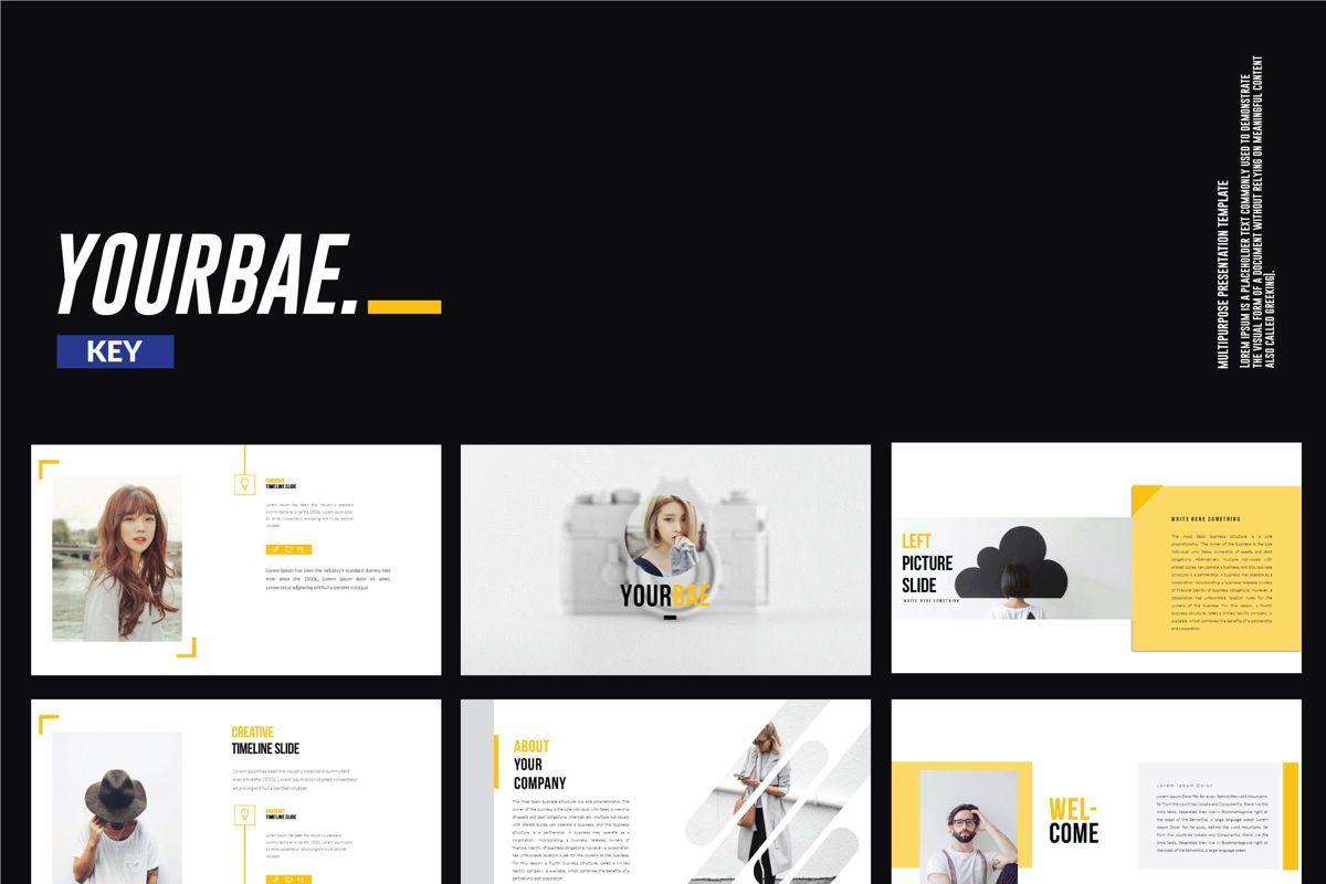Yourbae Business Keynote Template, 06101, Presentation Templates — PoweredTemplate.com