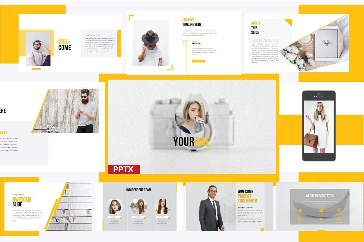 Yourbae Business Presentation Template, 06103, Presentation Templates — PoweredTemplate.com